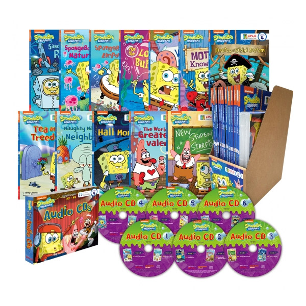 ★40%할인★SpongeBob SquarePants 스폰지밥 챕터북 세트 (12 Paperbacks+6 MP3CDs)