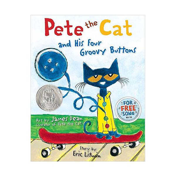 ☆윈터세일☆Pictory - Pete the Cat and His Four Groovy Buttons (Hardcover & CD)