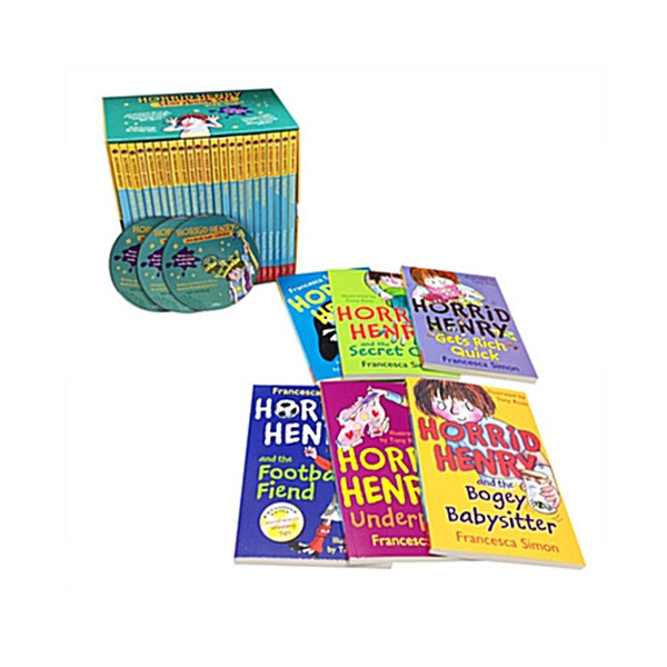 Horrid Henry Storybook Set (23 Paperbacks+3 MP3CDs, 단어장 증정)