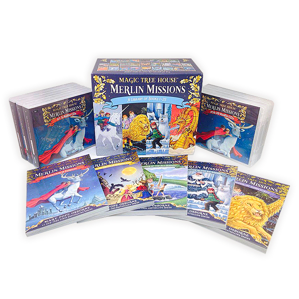 Magic Tree House Merlin Missions #1-25 Set (Book+CD+Wordbook)