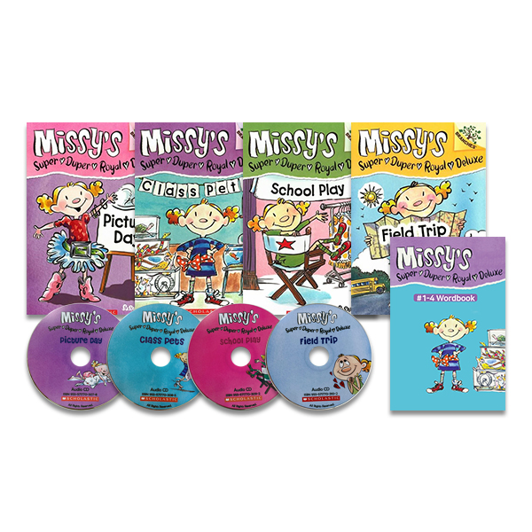 Missy's Super Duper Royal Deluxe #1~4 Set (Book+CD+Wordbook)