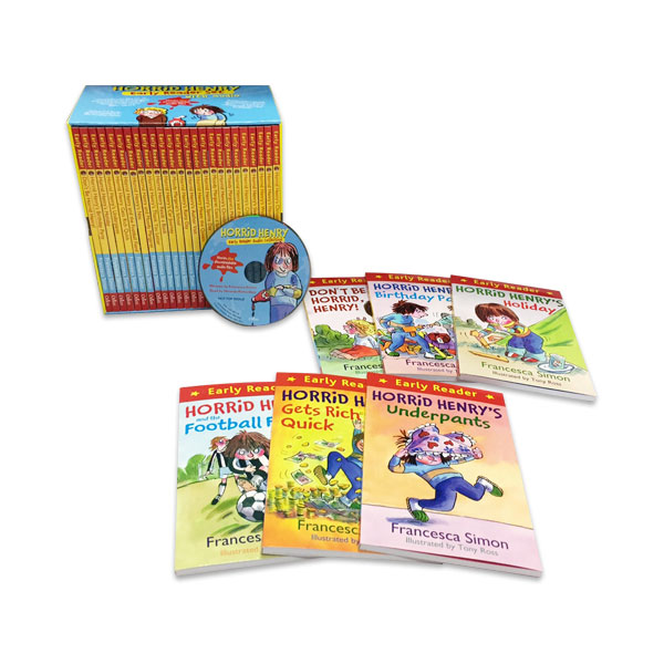 Horrid Henry Early Reader Set (25 Books+1 MP3CD, 단어장 증정)