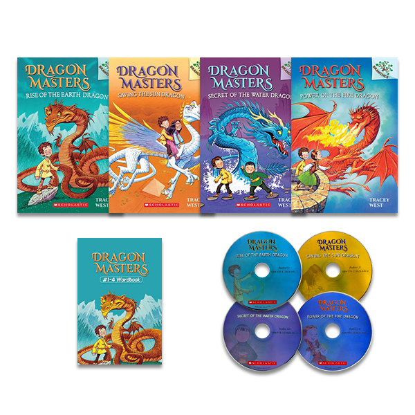 Dragon Masters #1-4 Set (Book+CD+Wordbook)