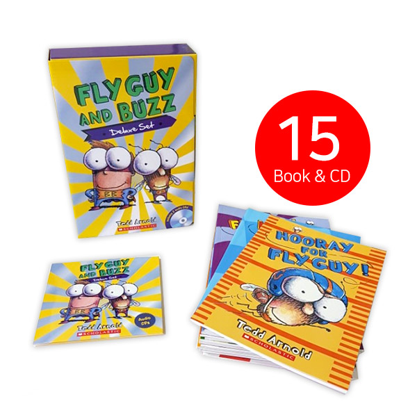 ☆윈터세일☆[플라이가이] Fly Guy and Buzz Deluxe #01-15 Set (Paperback+CD)