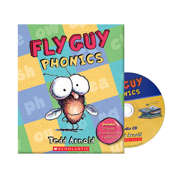 Fly Guy Phonics 12 Book & CD Box Set (Paperback+CD)