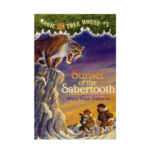 [파본:구판특A] Magic Tree House #07 : Sunset of the Sabertooth (Paperback)