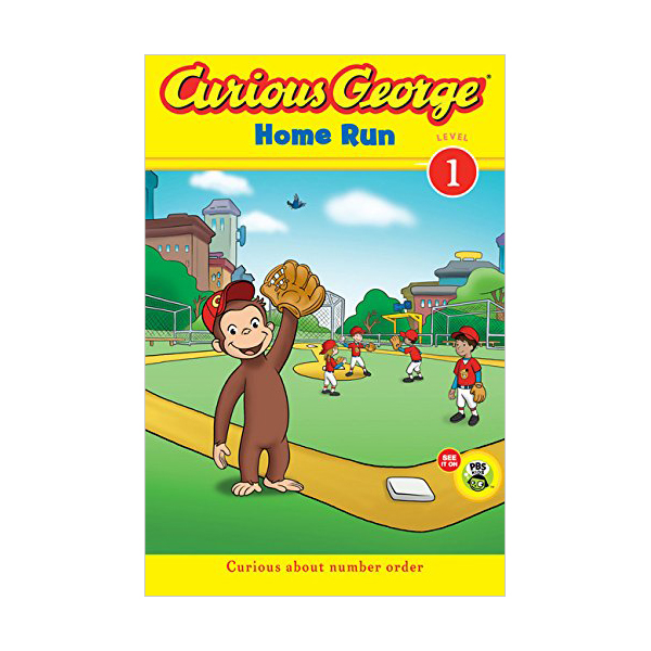 [파본:A급]RL 2.1 : Green Light Readers Level 1 : Curious George Home Run (Paperback)