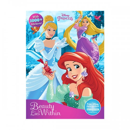 [특가] Disney Princess Sticker Treasury : Sticker Treasury & Coloring (Paperback)