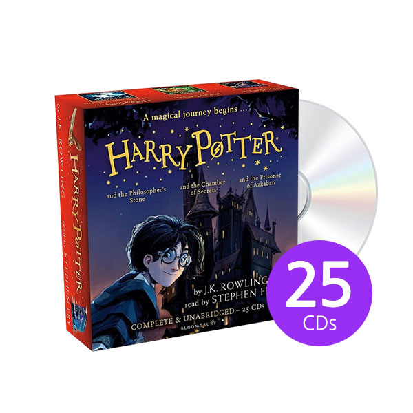 [특가세트/영국판] Harry Potter Books 1-3: Audio Collection - 25 CDs Stephen Fry (Audio CD)