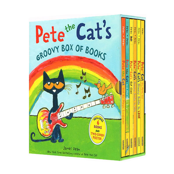 [특가세트] Pete the Cat's Groovy Box - 6 Book Set (Hardcover)