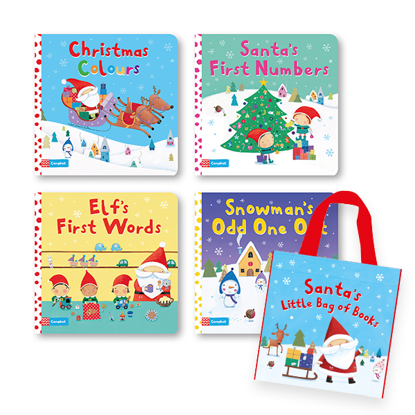 [특가세트] Santa's Little Bag of Books Collection 4권 세트 (Board book, 영국판)