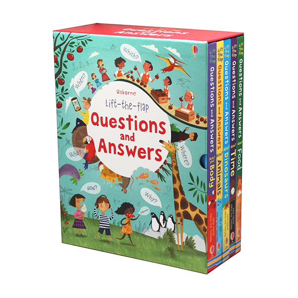 [특가] Usborne Lift-the-flap Questions and Answers 5 Books Box Set (Board book, 영국판)