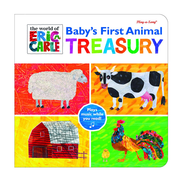 [특가] World Of Eric Carle : Baby's First Animal Treasurey (Board book, Sound Book)