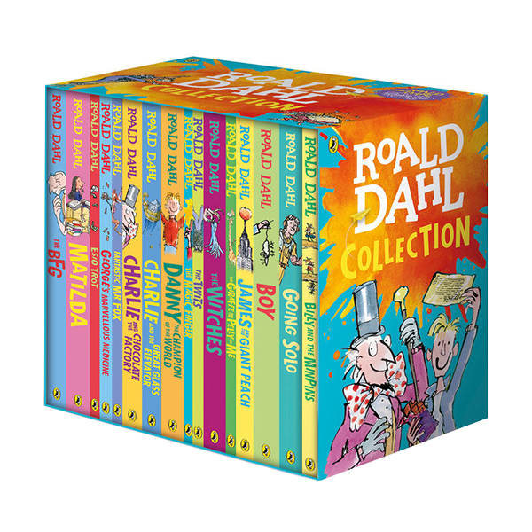[베스트★] [특가세트/흑백] Roald Dahl Collection : 16 Books Box Set (Paperback, 16권, 영국판)