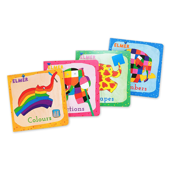 [특가세트] 엘머 : Learn with Elmer 미니보드북 4종 Collection (Mini Board Book)