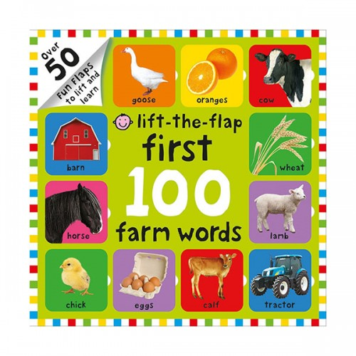 [특가] First 100 Lift the Flap Farm Words (Board book)