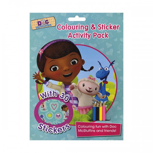 [특가] Disney Doc McStuffins Colouring and Sticker Activity Pack (Paperback, 영국판)