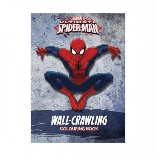 [특가] Marvel Spider-Man Wall-Crawling Colouring Book (Paperback, 영국판)