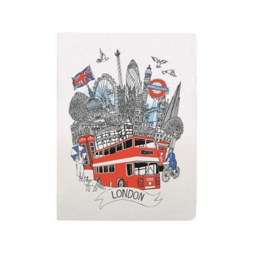 [특가] London Handmade Silkscreened Journal (Diary)