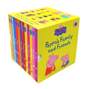 [특가세트]Peppa Family And Friend 12 Books Box Set (Board book,영국판) (CD없음)