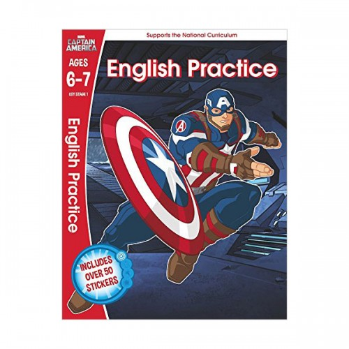 [특가] Captain America : English Practice Ages 6-7 (Paperback, 영국판)