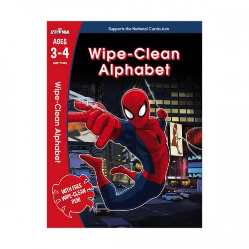 [특가] Spider-Man : Wipe-Clean Alphabet Ages 3-4 (Paperback, 영국판)