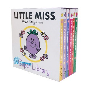 [특가세트] Little Miss : Super Pocket Library (Board Book, 6종, 영국판) (CD미포함)