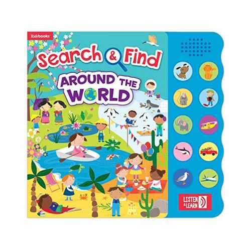 [특가] Search and Find Around The World (Hardcover, Sound book)