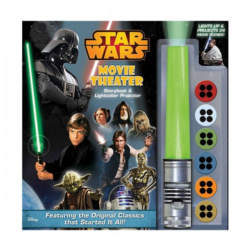 [특가] Star Wars Movie Theater Storybook & Lightsaber Projector (Hardcover)
