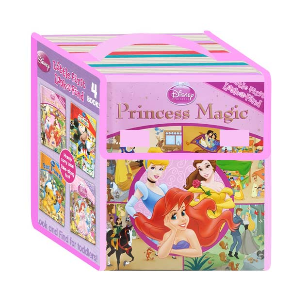 Disney 4 Board Books : Little First Look And Find - Pink (Board Book)