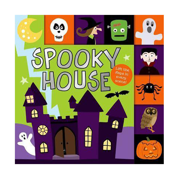 Lift-the-Flap Tab: Spooky House (Board book)