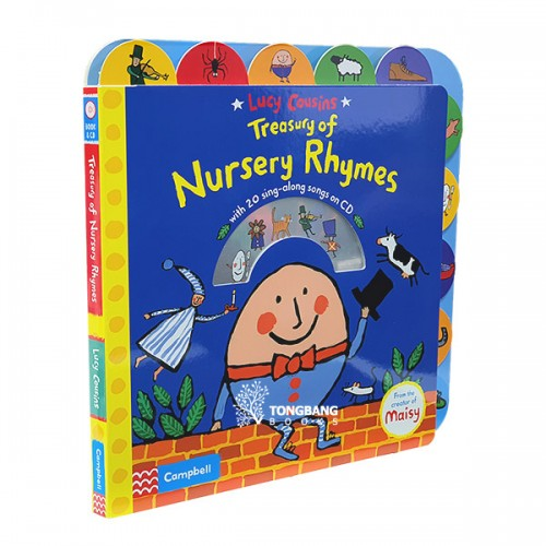 Lucy Cousins Treasury of Nursery Rhymes (Book & CD, 영국판)