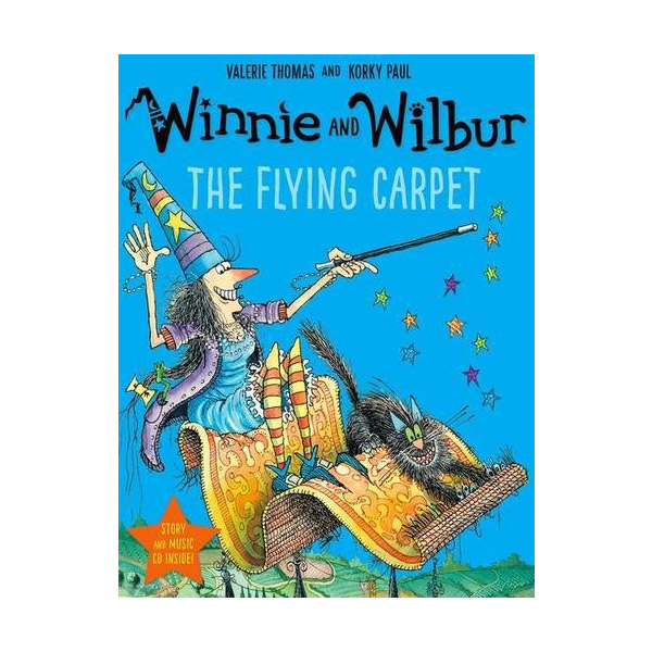 Winnie and Wilbur : The Flying Carpet (Paperback & CD)