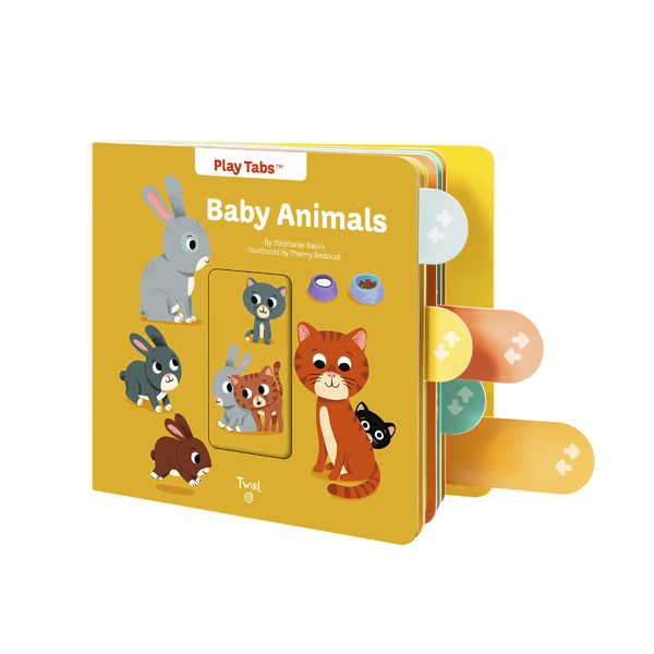 PlayTabs : Baby Animals (Board book)