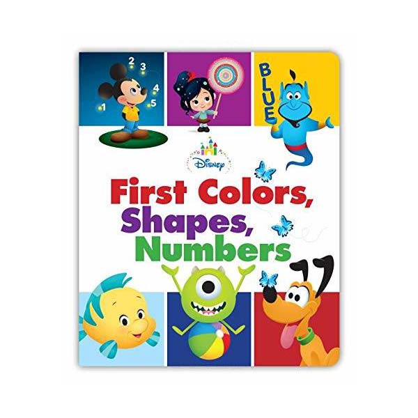 Disney Baby First Colors, Shapes, Numbers (Board book)