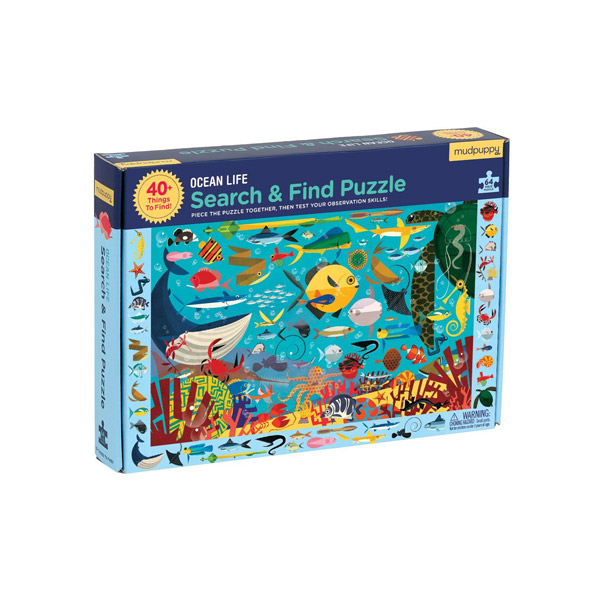 Mudpuppy : Ocean Life Search & Find Puzzle (64 Piece)