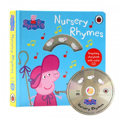 ★키즈코믹콘★Peppa Pig : Nursery Rhymes : Singalong Storybook with Audio CD (Board book, 영국판)