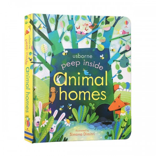 Usborne Peep Inside : Animal Homes (Board book, 영국판)
