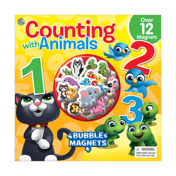 Counting with Animals : Bubble Magnet Book (Hardcover)