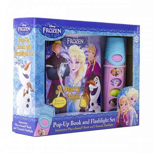 Disney Frozen : A Starry Night : Pop-up Book and Flashlight Set (Hardcover, Sound Book)