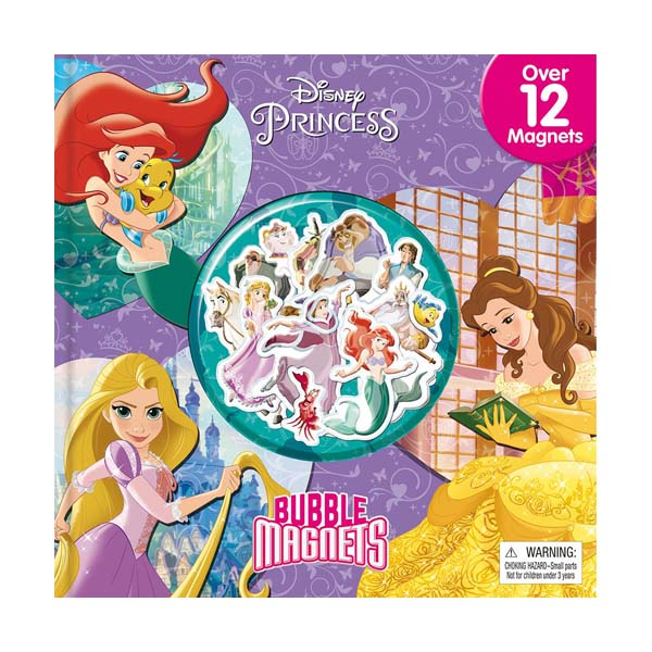 Disney Princess Bubble Magnets (Hardcover)