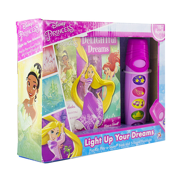 Disney Princess Delightful Dreams : Pop-Up Book And Flashlight Set (Hardcover, Sound Book)