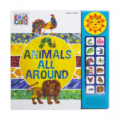 Eric Carle Animals All Around : Mini Deluxe Custom Frame (Hardcover, Sound Book)