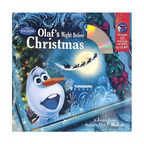 Frozen Olaf's Night Before Christmas Book & CD (Hardcover)