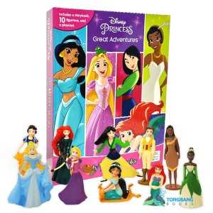 [베스트★] My Busy Books : Disney Princess Great Adventures (10 Figures/Board book)