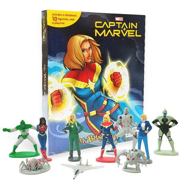 My Busy Books : Marvel Captain Marvel (10 figures/Hardcover)