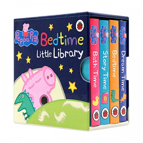 ★키즈코믹콘★Peppa Pig : Bedtime Little Library (Mini Board book, 6종, 영국판) (CD미포함)