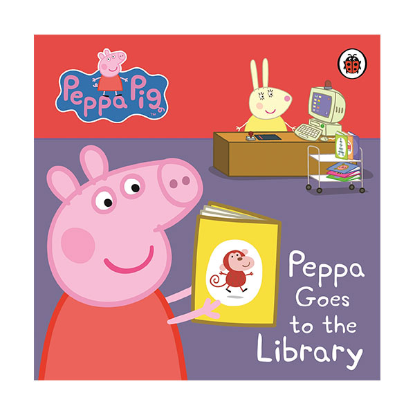 ★키즈코믹콘★Peppa Pig : Peppa Goes to the Library : My First Storybook (Board book,영국판)