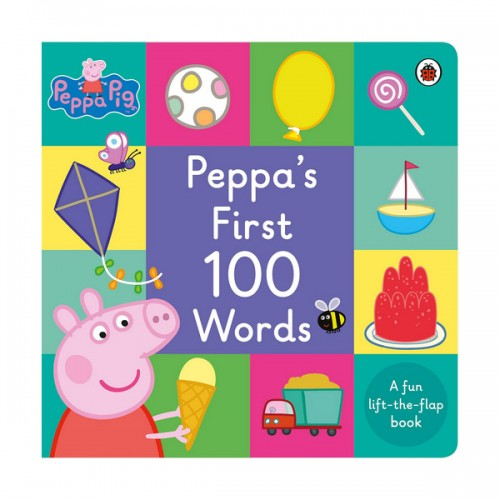 ★키즈코믹콘★Peppa Pig : Peppa's First 100 Words (Board Book, 영국판)