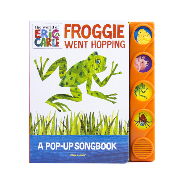 World of Eric Carle : Froggie Went Hopping Pop-Up Music Sound Book (Board book, Sound Book)